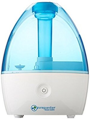 $23.08PureGuardian H910BL Ultrasonic Cool Mist Humidifier for Bedrooms, Babies Nursery, Quiet, Filter-Free, Up to 10 Hour Run Time, Treated Tank Surface Resists Mold, Pure Guardian Desktop @ Amazon