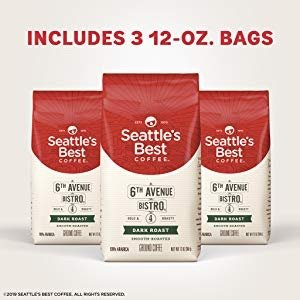 $23.62Seattle's Best Coffee 6th Avenue Bistro Dark Roast Ground Coffee 3 Pack, 36 Ounce