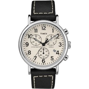 TimexWeekender Chrono 2 Piece 40mm Leather Watch | Timex