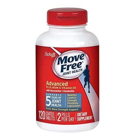 Move Free维生素D3 氨基葡萄糖维骨力蓝盒