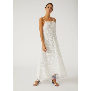Emporio ArmaniGeometric Macrame Dress With Straps for Women | Emporio Armani