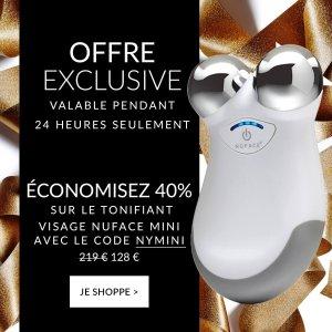 限时6折+包邮 仅售€128闪购:NuFace mini美容仪 惊现迎新年好价 瘦脸So Easy