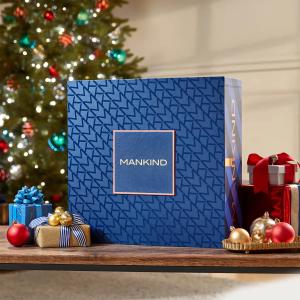 变相1.7折+包邮 仅€89.47大降价:LOOKFANTSTIC x Mankind 圣诞礼盒(价值超¥3900)