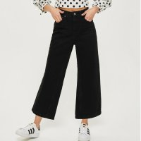Topshop 黑色喇叭牛仔裤