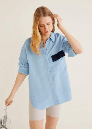 Pocket linen shirt -  Women | Mango USA