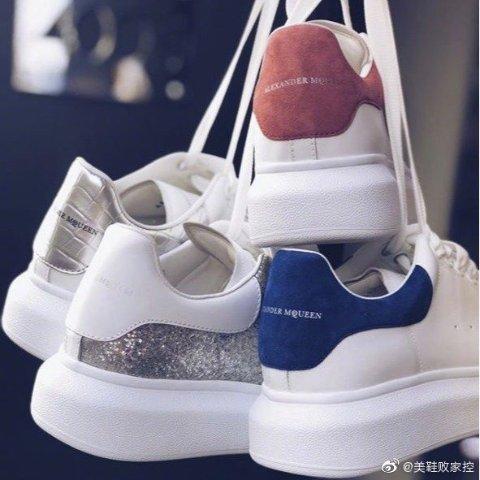 八哥价 £262收金尾小白鞋麦昆小白鞋上新热卖 新款厚底也参加 超多春夏亮眼配色