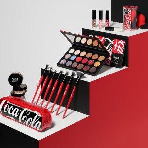 $15起Morphe 可口可乐联名彩妆开售 红黑配色超酷
