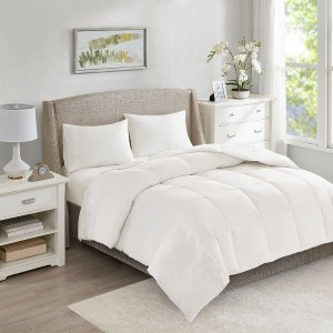 Designer Living All Season Warmth Oversized 100% Cotton Down Comforter