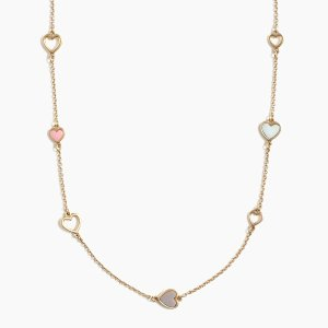 J.CrewMini hearts necklace