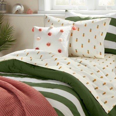 Pillowfort™ 菠萝图案床具套装