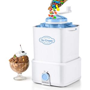 $27.99(原价$39.99)Nostalgia Electrics 2夸脱冰淇淋机 宅家自制美味冰淇淋