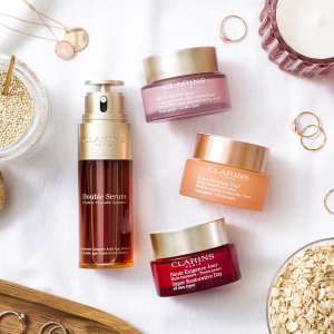 $105 Value Free 9-PC GiftClarins Single's Day Beauty and Skincare Sale