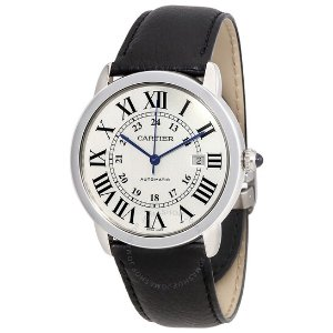 CartierRonde Solo Automatic Silvered Opaline Dial Men's Watch WSRN0022