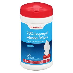 WalgreensTAKE2570% Isopropyl Alcohol Wipes