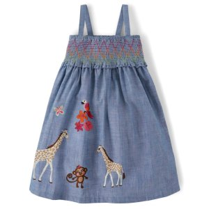 Gymboree女童刺绣连衣裙