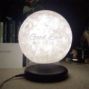 $129.99 (原价$189.99)情人节独家:Leviluna 创意磁悬浮3D打印月球灯 定制表白神器