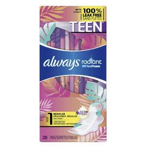 $6.97+第二件半价Always 少女型液体卫生巾 28片