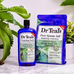 Amazon Dr Teal's 泡泡沐浴热卖  让泡澡更放松