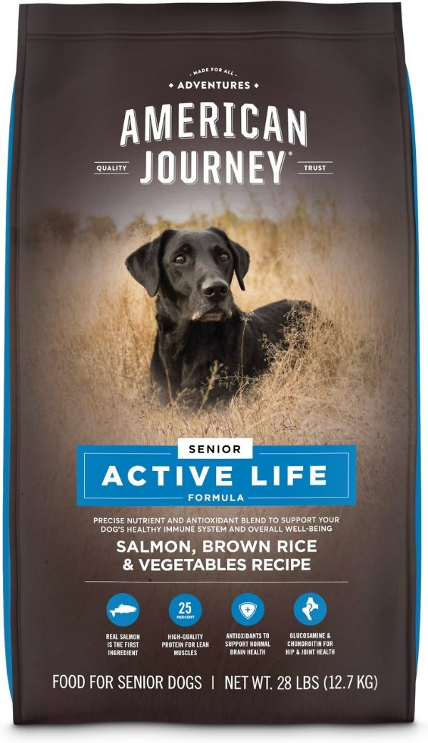 Active Life 三文鱼老年犬粮28磅