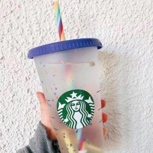 店内售价€6 线上售价€7Starbucks 星巴克夏日梦幻变色杯 yyds!快去店里撸