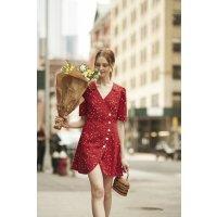 Quaint Official  Cherry Floral Dress