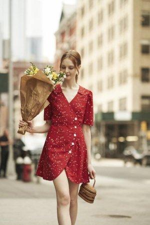 Quanta du Soleil - Cherry Floral DressP/XS