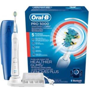 Oral-B Pro 5000电动牙刷 + 3支Crest 牙膏 + 2包90支牙线