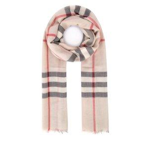 Burberry格纹围巾