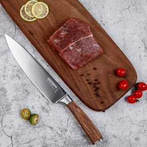 SHI BA ZI ZUO 8 Inches Chefs Knife Cooking Cutlery with Stainless Steel