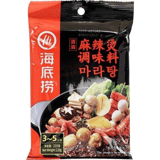火锅底料 清油麻辣烫 7.76 OZ
