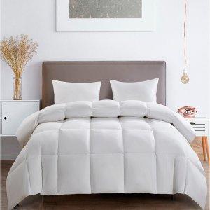 SertaAll Season White Goose Feather And Down Fiber Comforter Twin