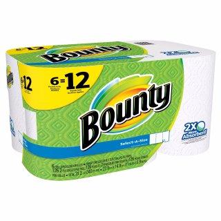 $45.57+$10礼卡Bounty Select-A-Size 厨房纸每包12卷 买3包得礼卡