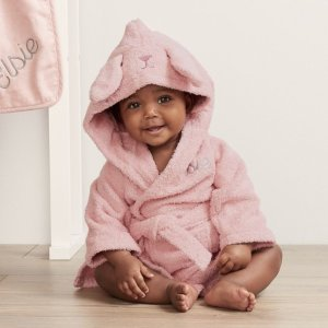 My 1st YearsPersonalized Pink Bunny Towelling Robe