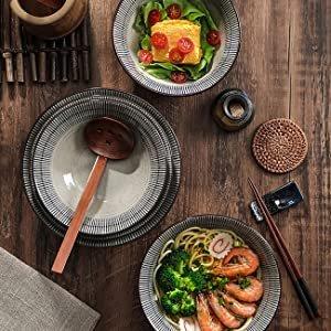 仅€23.98入手Sdfvsdf 日式拉面陶瓷碗双人套装 超大碗超满足