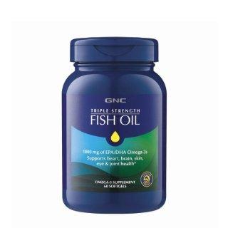 $9.99起 + 无门槛额外8.5折GNC 三倍强效深海鱼油 60粒 促进脑部、视网膜发育