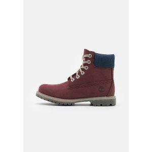 Timberland36-40码酒红色登山靴