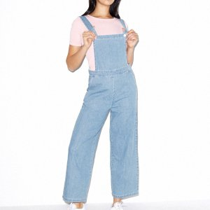 Denim Pinafore Jumpsuit | American Apparel