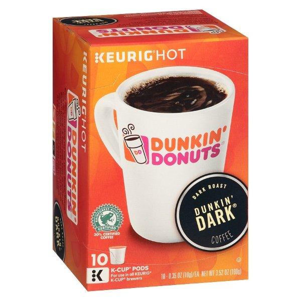 K-Cups 深度烘焙咖啡胶囊 10个