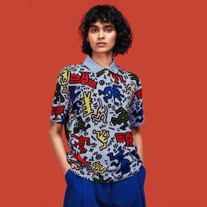 LacosteX Keith Haring 合作款短袖印花polo