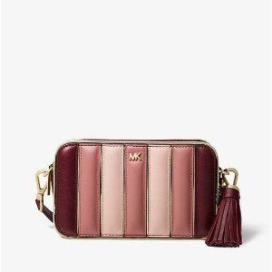 ab4ac5bf2066 Michael KorsSmall Quilted Tri-Color Leather Camera Bag.  208.00  258.00. Michael  Kors ...