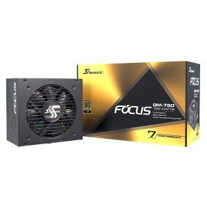 $109.99 RTX 30刚需Seasonic FOCUS GM-750 750W 80+金牌 半模组电源