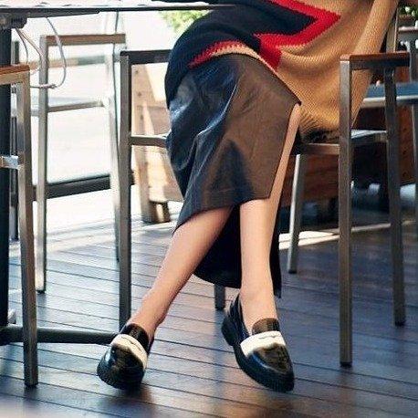 厚底乐福鞋