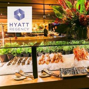 2人仅$89 (原价$160)悉尼凯悦 Sailmaker Hyatt Regency 海鲜餐厅自助晚餐团购