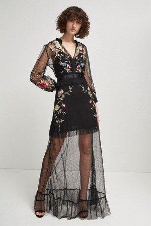 Saya Stitch Maxi Dress   Dresses   French Connection Usa
