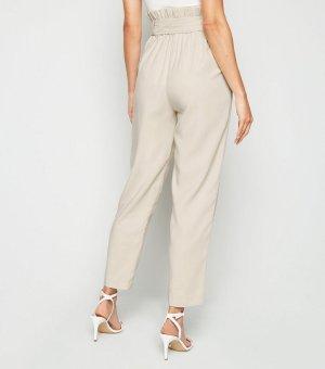 米灰色高腰裤
