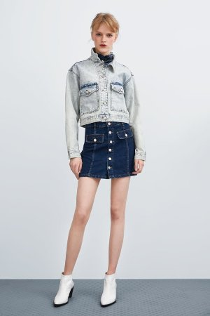 MINI DENIM SKIRT - View all-SKIRTS-TRF | ZARA United States
