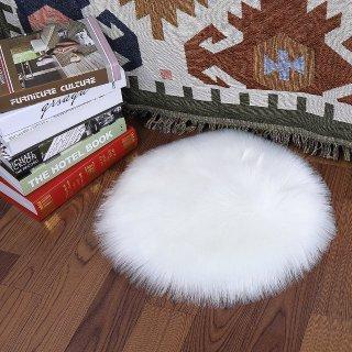 $7.64闪购:Softlife 圆形柔软人造羊毛地毯,1.2ft x 1.2ft