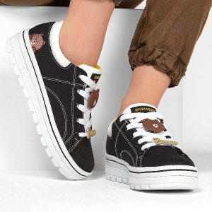 低至$38 (原价$90) 8码+Skechers Street Cleats 2 布朗熊休闲鞋  做个甜酷风少女