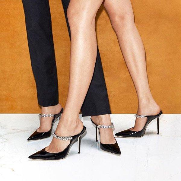 水晶穆勒鞋