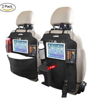 闪购 $33.99(原价$39.99)Oasser 超大汽车座椅后背防踢收纳垫 2片